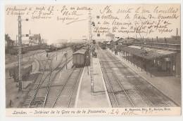 Belgique - Brabant Flamand - Landen Intérieur De La Gare Vu De La Passerelle 1903 - Landen