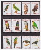 Surinam / Suriname 2004 Hummingbird Parrot Kingfisher Hawk Eagle MNH - Oiseaux