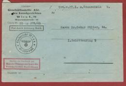 Brief Frei Durch Ablösung Reich Landgericht Wien - 1918-1945 1st Republic