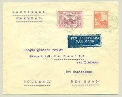 Nederlands Indië - 1931 - 12,5 Cent + 10 Cent Luchtrecht Op LP-brief Van Solo Naar Den Haag - Nederlands-Indië