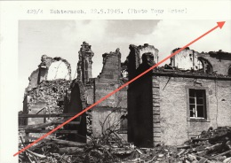 Grande Photo Signée Grand Duché De Luxembourg Guerre 40-45 WWII Ruines Echternach - Guerre, Militaire