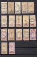 Lot De Timbres Fiscaux 1881-85 Type Oudiné - Zonder Classificatie