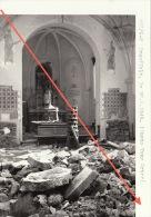 Grande Photo Signée Grand Duché De Luxembourg Guerre 40-45 WWII Ruines Drauffelt Clervaux - Guerre, Militaire