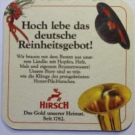Sous-bock Bierdeckel Coaster Bierviltje Lot : 2 Differents HIRSCH Honer Pils  Im Sehr Gutem Zustand. In Good Trim - Sous-bocks