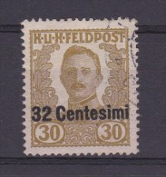 1918 - OCC. STRANIERE TERRITORI ITALIANI - Occ. Austriaca (FRIULI-VENETO) - Usato - Cat. Sassone N.27 (172) - 8. Besetzung 1. WK