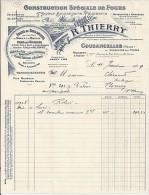 55 . MEUSE . COUSANCELLES . 1929 . CONSTRUCTION DE FOUR THIERRY - Petits Métiers