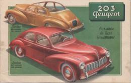 Dépliant Pub : 203 Peugeot - Publicités