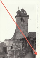 Grande Photo Signée Grand Duché De Luxembourg Guerre 40-45 WWII Ruines Munshausen Réfection Toiture - Guerre, Militaire