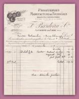 58 LA CHARITE SUR LOIRE NIEVRE COMMERCE MAGASIN PELLETERIES MANUFACTURE DE FOURRURES F. BARDEAU & CIE FACTURE 1919 RARE - Textilos & Vestidos
