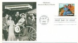 1993 USA Oklahoma! Musical Theatre 29c First Day Cover - 1991-2000