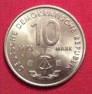 DEUTSCHE DEMOKRATISCHE REPUBLIK 10 MARK 1973 - BERLINO GIOCHI STUDENTESCHI - [10] Commemorative