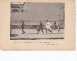 PARIS PITTORESQUE VI, Le Colporteur, Coll Stai N°10, Coins Arrondis D´origine , Pli De Coin - Petits Métiers à Paris