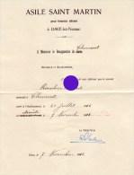 Asile Saint Martin à Dave Namur 1916 - Décès