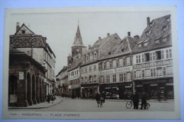 CPA 67 HAGUENAU. Place D Armes. Carte Animée. 09/03/1933. - Haguenau