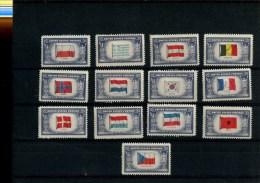 268647217 USA POSTFRIS MINT NEVER HINGED POSTFRISCH EINDWANDFREI SCOTT 909 921 Ovverrun Countries Flags - United States