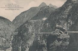 Vallée Du Queyras, Vue Panoramique De La Nouvelle Route Dans Les Gorges Du Guil - France