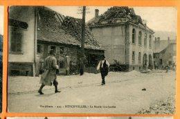 LOL043, Bitschwiller, La Mairie Bombardée, Haute Alsace,animée,  Circulée 1919 Sous Enveloppe - Frankrijk