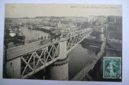 CPA 29 BREST. Le Pont National Et Le Port Militaire. Carte Animée. 08/03/1908. - Brest