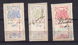 Lot De Timbres Fiscaux Anciens 1874 Groupe Allégorique - Fiscale Zegels