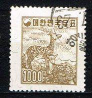 """Süd-Korea  1958  """" Sika Deer """" , Mi. 277  Gestemp. / Used / Oblitaire - Korea (Zuid)"""