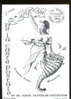 CPM Neuve Publicité 3ème Salon De La Carte Postale à BOOS (76) 1985 (1500ex) - Bourses & Salons De Collections