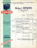 "71.TOURNUS.EQUIPEMENT ELECTRIQUE AUTOMOBILE.STOCK BATTERIES "" TUDOR "" ROBERT DENOIX 18 QUAI DU MIDI. - Automobilismo"