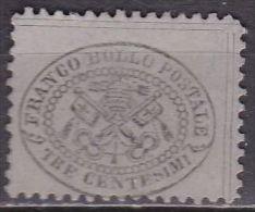 PAPALSTATE  / KIRCHENSTAAT 1868 3 C Black / Bluegrey Michel 20 A (*) - Etats Pontificaux