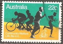 Australie - 1980 - Vivre En Bonne Forme - YT 712 Oblitéré - Ciclismo