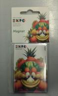 Alt827 Magnete Magnet Expo Milano 2015 Universal Exposition Mascotte Food Cibo Energy Mascotte Foody - Publicidad