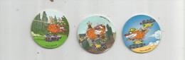 E-T-I , POG , 1996 WPF , CANDY'UP , N° 1/3/5 , LOT DE 3 POGS , Frais Fr: 1.30€ - Figurines