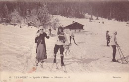 CPA - Chamonix - Sports D'Hiver : SKIEURS - Wintersport