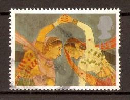 """1995 - Timbres De Voeux """"Danse Kathak"""" N°1804 (B8 Réf) - Gebraucht"""