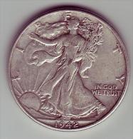 - USA - Etats Unis - Half Dollar Liberty  1942. - EDICIONES FEDERALES