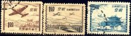 Airmail Issue 1954, Taiwan Stamp SC#C65-C67 Used Set - 1945-... République De Chine