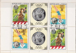Chad CTO Olympic Games Sheetlet - Summer 1968: Mexico City