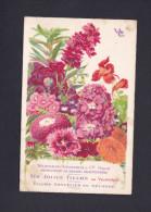 Carte Publicitaire Vilmorin Andrieux & Cie Paris Graines  - Les Jolies Fleurs - Fleurs Annuelles En Melange ( Coquelicot - Fleurs