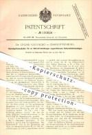 Original Patent -  Dr. Lucian Gottscho , Charlottenburg , 1897 , Abzweigstromschalter , Strom , Starkstrom , Elektrik !! - Historical Documents