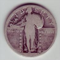 - USA - Etats Unis - Quarter Dollar Standing Liberty  ?D. - 1916-1930: Standing Liberty (Libertà In Piedi)