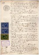 VP2571 - AUZANCES - Acte Entre Mrs TROUBAT &  REFFAT - Non Classés