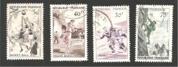 Série Sportive 1072/1075  1956 Oblitéré - France
