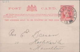 VICTORIA - POSTCARD 1900 - MELBOURNE - HAMILTON - 1850-1912 Victoria
