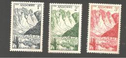 Andorre Francais 138-141 Les Escaldes, Neuf  Trace Charnières