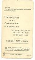 Meix Devant Virton Villers La Loue Bernard Fabien Souvenir Communion Solennelle 20 Juin 1943 - Meix-devant-Virton