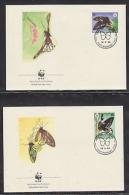 Papua New Guinea 1988  WWF / Butterflies 4v  4 FDC (W724) - W.W.F.