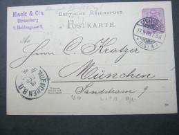 1889 , STRASSBURG , Carte Postale - Alsace-Lorraine