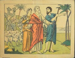 HISTOIRE SAINTE - Série III - N° 21 - Vocation D'Abraham - Illustré Par : G. Le Doux -  En BE - - Santini