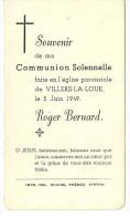 Roger Bernard Communion Solennelle Villers La Loue 1949 - Meix-devant-Virton