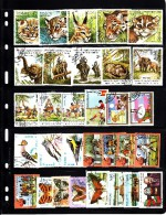 Laos Lot Of 108 Postage Stamps - Mint, Used - Timbres