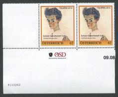 ÖSTERREICH / PM Nr. 8110262 / Paar Mit Nummer / Schiele Geburtsstadt Tulln / Postfrisch / MNH / **