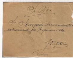 CC FRANQUICIA MILITAR ARTILLERIA 1912 A JACA AL DORSO LLEGADA - Franquicia Militar
